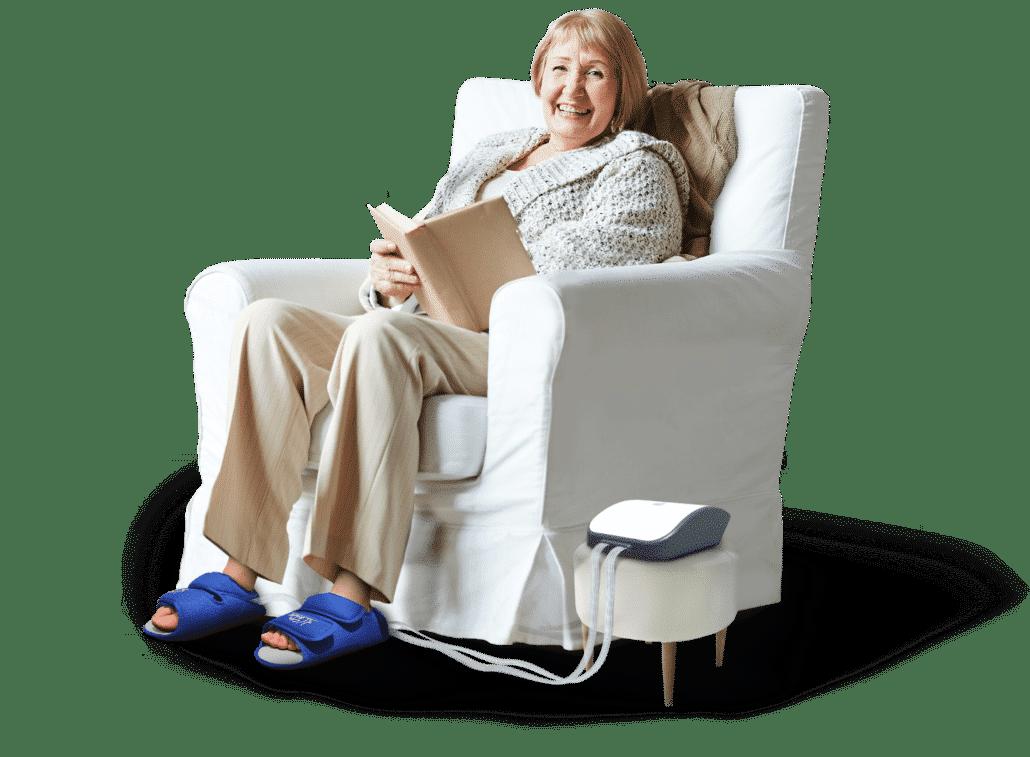 Woman Sitting with LiteWalk